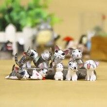 Kawaii 9pcs Chi Il Gatto Piccola Figura 3 centimetri Micro Paesaggio Piccola Chis Dolce Gattino Emoticon Della Decorazione del PVC Modello giocattoli Complementi Arredo Casa