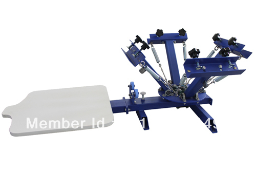 FAST and FREE shipping! 4 color 1 station silk screen printing machine t-shirt printer press equipment carousel free shipping 2016 new updated ce approved 5 nails printing machine nails and flower printer