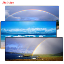 Mairuige Colorful Rainbow Gaming Mouse Pad Locking Edge Large Mat PC Computer Laptop pad for CS GO dota 2 lol