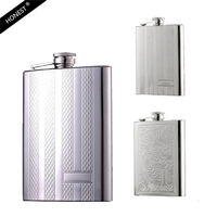Honest 8oz Luxury Hip Flask Stainless Steel Flask Whiskey Liquor 3Style Portable High Quality Bottle With