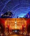 Рождественские Огни Открытый Водонепроницаемый 3.5 м Свисать 0.3-0.5 м СВЕТОДИОДНЫЙ Занавес Огни Строки СВЕТОДИОДНЫЕ Фонари Украшения Свет Строка
