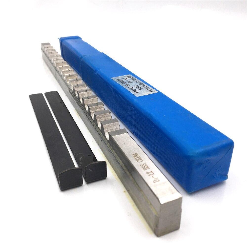 Keyway Cutter 12mm Broach Cutting Shim Tool Metric D Push Type HSS Matetial