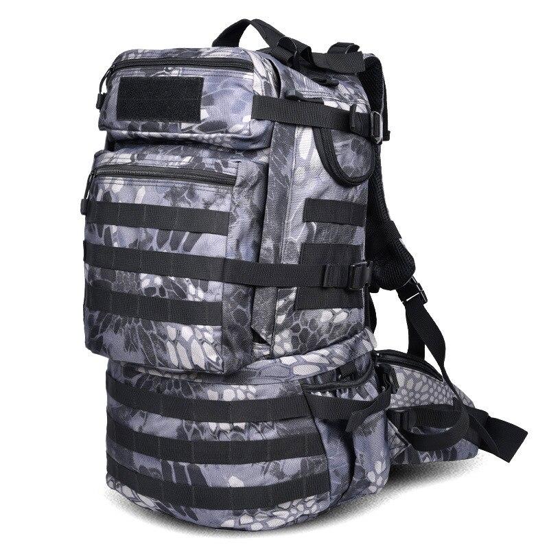 Sac à dos tactique de l'armée militaire en plein air 50L sac à dos de randonnée de Camping de grande capacité sac à dos de voyage bolso militar hombre - 6