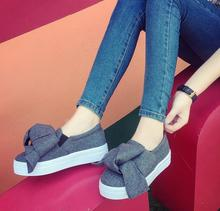 New fashions for font b women s b font shoes art van bowknot in the fall