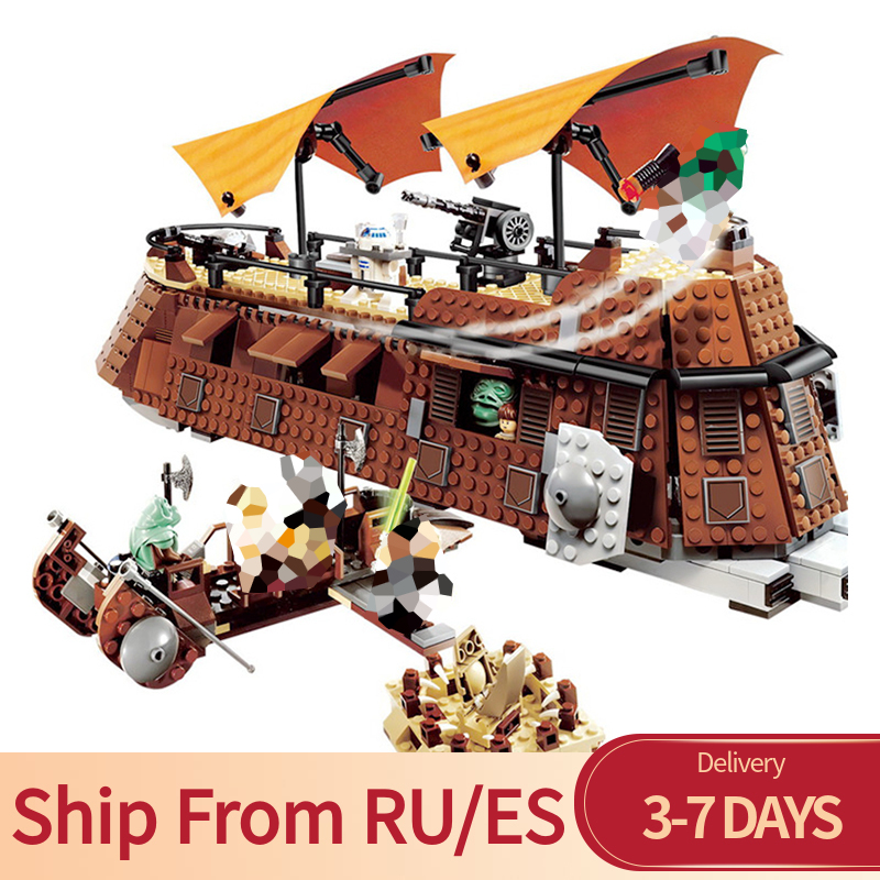 Star Wars Series 821pcs Jabba s Sail Barge Movie Return Of The Jedi Hunter Bricks Blocks