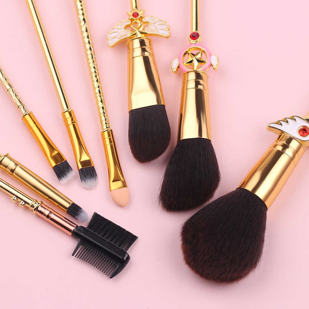 Cardcaptor Sakura кимоно набор кистей для макияжа 8 шт./партия мягкие синтетические волосы Румяна набор кистей для макияжа Кисть для макияжа