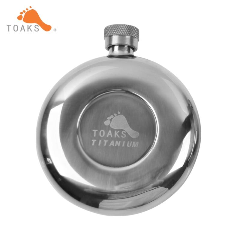 TOAKS Titanium Hip Flask 150ml Outdoor Camping Hiking Portable Flagon
