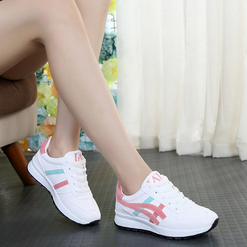 Women Sneakers 2018 Spring Autumn Vulcanized Shoes Ladies Casual Shoes Breathable Walking Mesh Flat Shoes Tenis Feminino