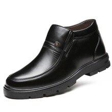 Dropshipping New 2019 Winter Warm Fashion Men Shoes Brand De
