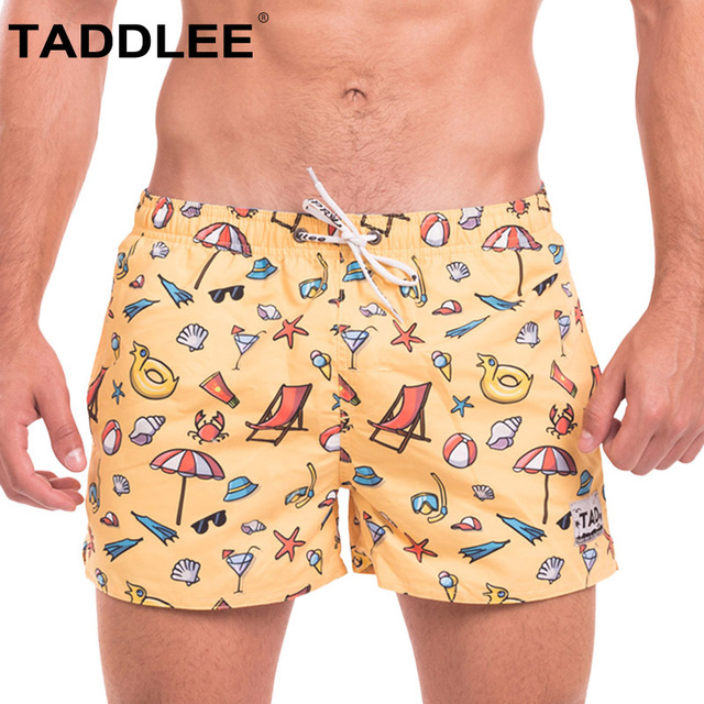 Taddlee Brand Mens Casual Board Beach Shorts Trunks Man Jogger Bermduas Short Bottoms Quick Dry Men Boxers Swimwear Swimsuits