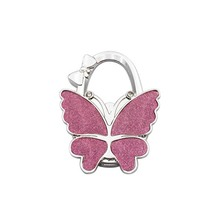 25PCS / LOT for Purse Bag hanger Popular style smooth frosted large butterfly hang bag hook delicate folding hang bag buckle