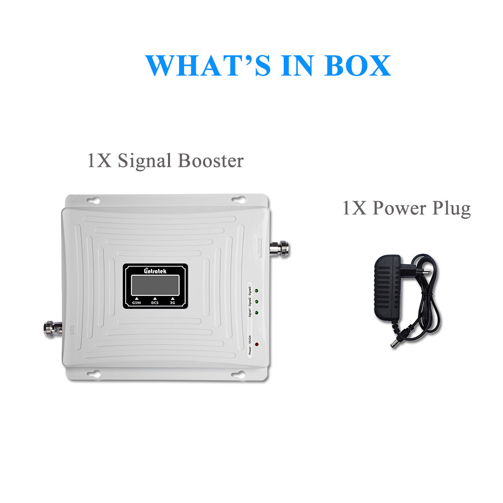 Image 5 - Lintratek LCD Tri Band Signal Booster 2G 3G GSM 900MHz UMTS 2100MHz 4G LTE 1800MHz Mobile Cell Phone Signal Amplifier Repeater@-in Signal Boosters from Cellphones & Telecommunications