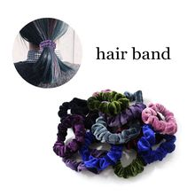 1pcs/Ms. Korea high quality fabric gold velvet hair bundle hair band head rope rubber band female hair accessories 1pcs lge2121 lge2121 ms