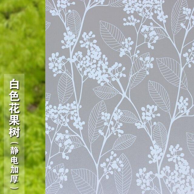 Witte bloem en fruit bomen patroon elektrostatische matglas film ...