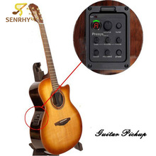Guitar Pickups Presys blend Dual Mode Guitar Tuner Piezo Pickup Equalizer System With Mic Beat Board Pickups Guitar Accessories