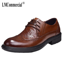 Spring Summer Mens Leisure Bullock shoes High Quality Genuine Leather Shoes Men,Lace-Up Business Men Shoes,Men Dress