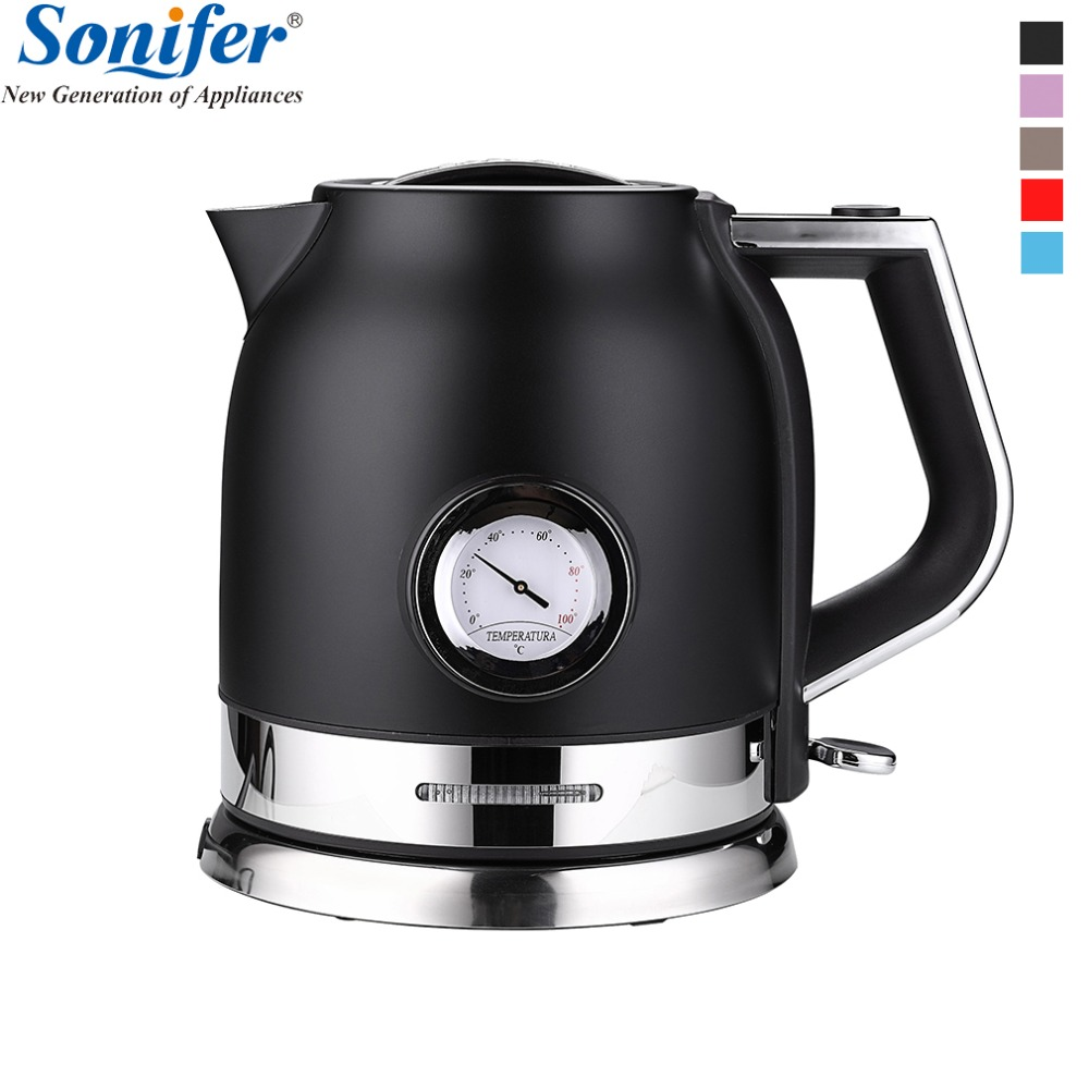 1 8L Colorful 304 Stainless steel Electric Kettle With water temperature meter 1500W Household 220V Quick