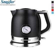 1.8L красочные 304 нержавеющая сталь Электрический чайник с Температура воды метр 220 Вт бытовой В 1500 в быстрый нагрев Boili