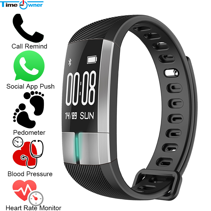 TimeOwner G20 Bluetooth Wristband Fitness Smart Bracelet HeartRate Blood Pressure Tracker Pedometer Call MSN App Push