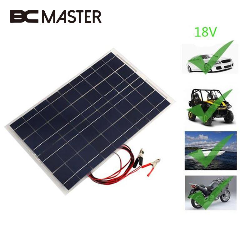 Solar Panel Battery Bank >> Bcmaster Travel 18v 30w Smart Solar Power Panel Car Boat Battery
