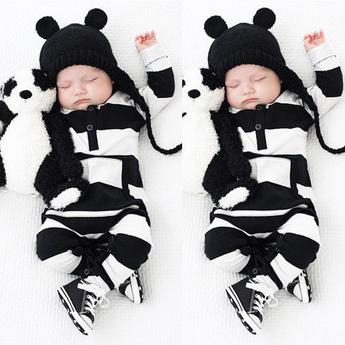 95ff097b7 0 3Y Baby Boys Girls Infants Clothes Long Sleeve Rompers Outfits ...
