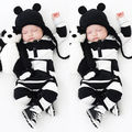 0-3Y Baby Boys Girls Infants Clothes Long Sleeve <font><b>Rompers</b></font> Outfits Newborn Infant Kids Winter Clothing Jumpsuits Baby Outwear
