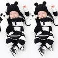 Outfits 0-3Y Bebés Meninos Meninas Crianças Roupas Macacão de Manga Longa Bebê Recém-nascido Crianças Inverno Macacões Roupas de Bebê Outwear
