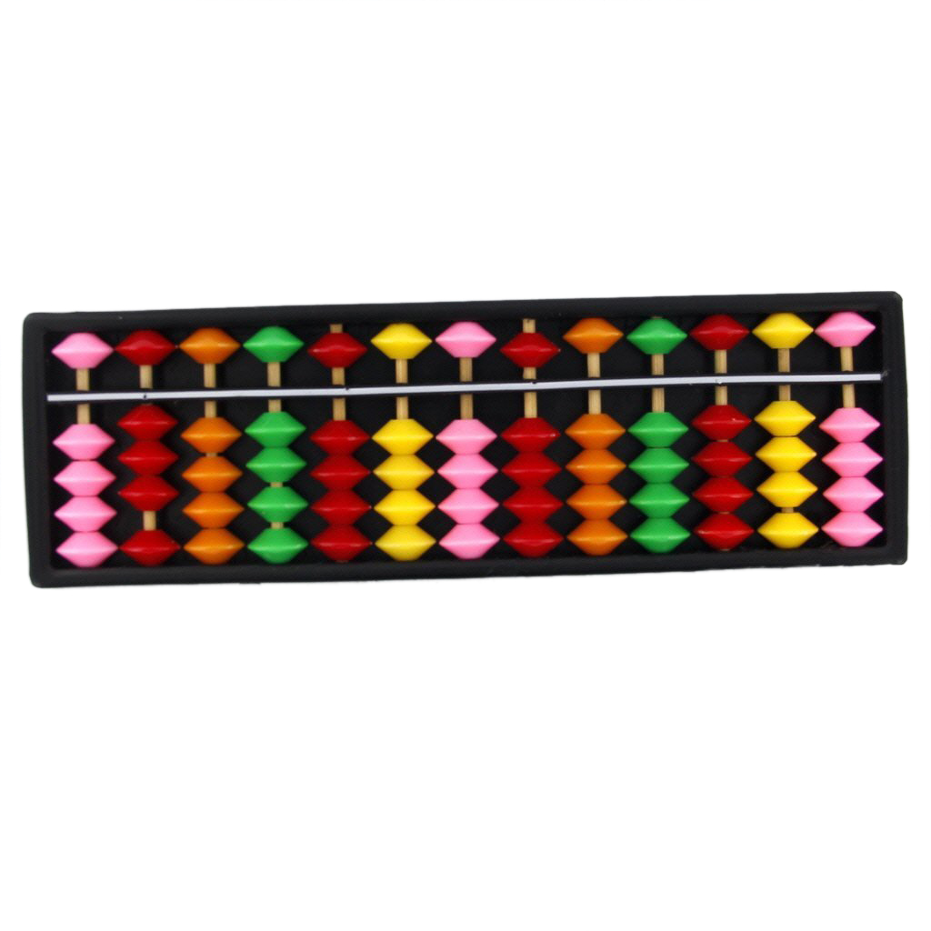 цена на 10pack (Portable Plastic Abacus Arithmetic Abacus calculation tool