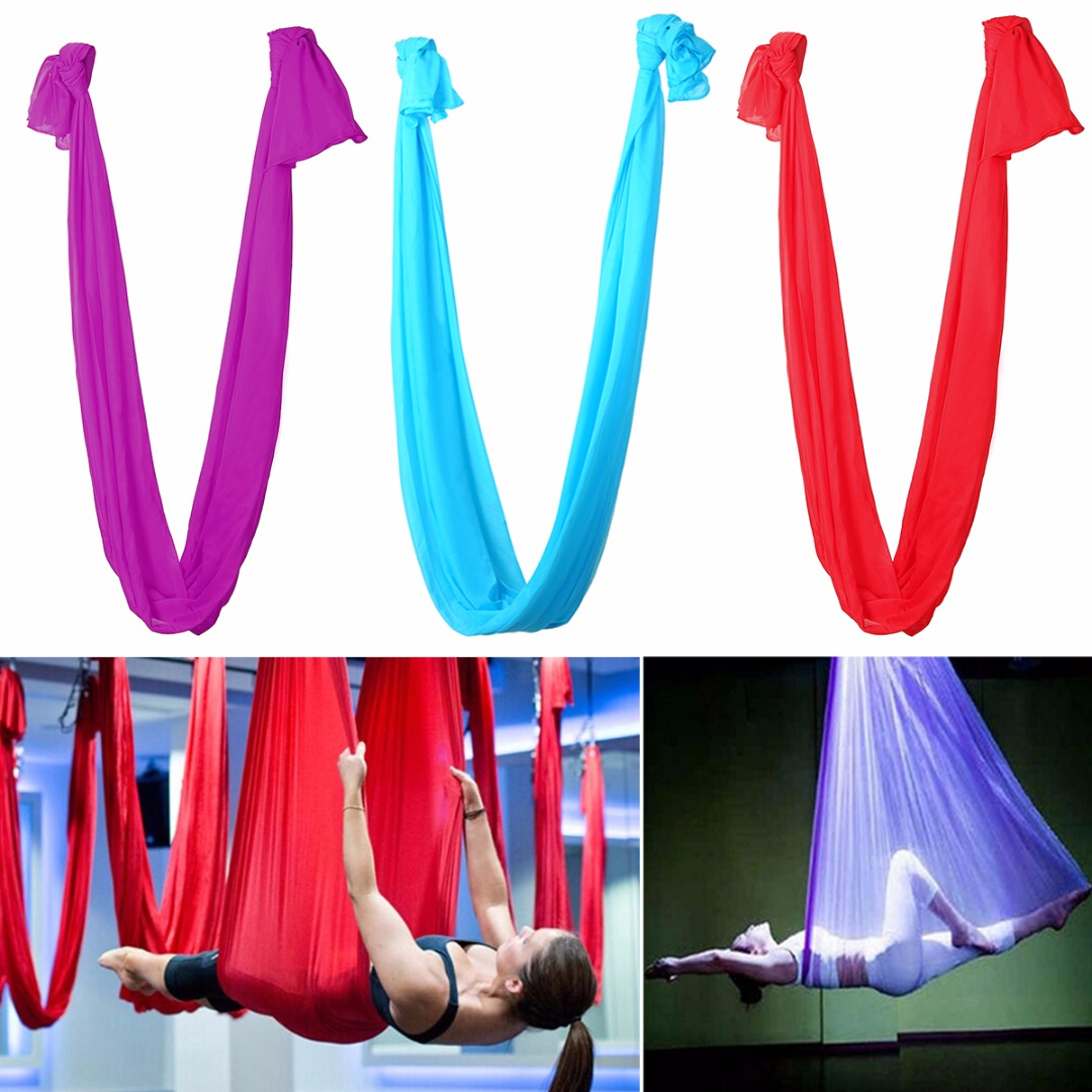 Fitness & Body Building Symbol Of The Brand 2017 High Quality 2.8m *1m Length Yoga Flying Swing Hammock Anti-gravity Elastic Yoga Aerial Inversion Swing Sling Strap Prop Smoothing Circulation And Stopping Pains