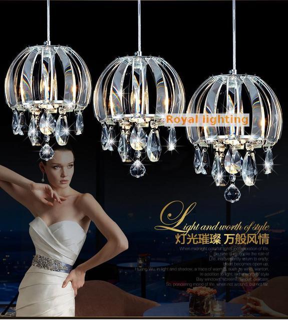 2017 New Arrival Led Cord Pendant lights for dining room Inn 110-240V E14 Led Bulb Chinese Style clear crystal lighting Hanglamp