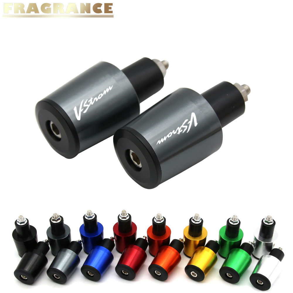 For Suzuki DL650 V-STROM DL 650 VSTROM 2004-2009 7/8'' 22MM Motorcycle Handlebar Grips Handle Bar Cap End Plugs