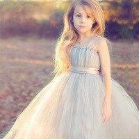 Princess Tulle Baby Tutu Dress Girls Wedding Dress Fluffy Princess Party Dance Dress Children Ballet Handmade
