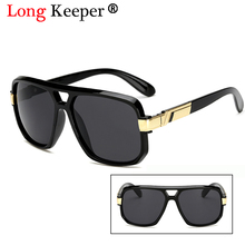 Long Keeper Square Cool Sunglasses Men Luxury Brand Design Couple Lady Celebrity Flat Hot Women Sun Glasses Super Star Eyewear