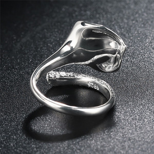 Image 4 - V.YA Adjustable Flower Lily Floral Rings For Women Female 925 Sterling Silver Ring Jewelry Accessories High Quality