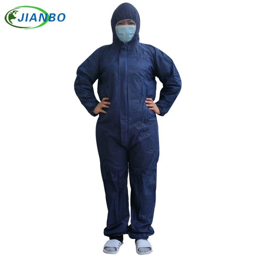 Einweg Schutzanzug Sicherheit Schutz Nicht-woven Staub-proof Kleidung Reinraum Bekleidungs Einzel-verwenden Mit Kapuze Anzug Mantel