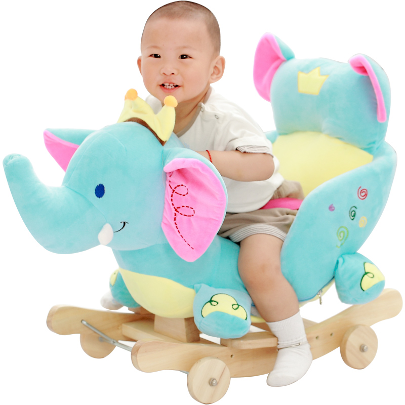 Baby Swing Plush Horse Toy Rocking Chair Baby Bouncer Baby