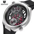 Mens Relógios Top Marca de Luxo Oco Sports Watch Men Big Dial Design de Moda À Prova D' Água De Quartzo-Relógio Masculino Relogio masculino