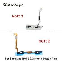 купить Home Return Menu Button Flex Cable Ribbon For Samsung Galaxy Note 2 3 N7100 N900 N9005 Keyboard Sensor Replacement Parts дешево