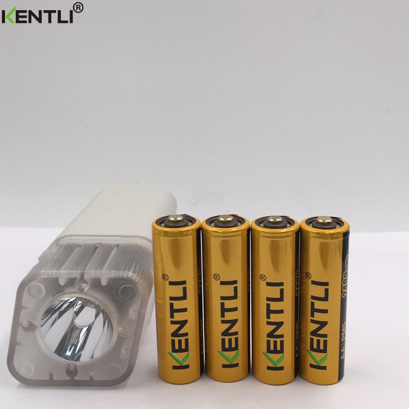 ФОТО 4 pcs KENTLI 1.5v AA 2400mWh polymer lithium li-ion rechargeable battery + 4 channels AA AAA charger with flashlight function