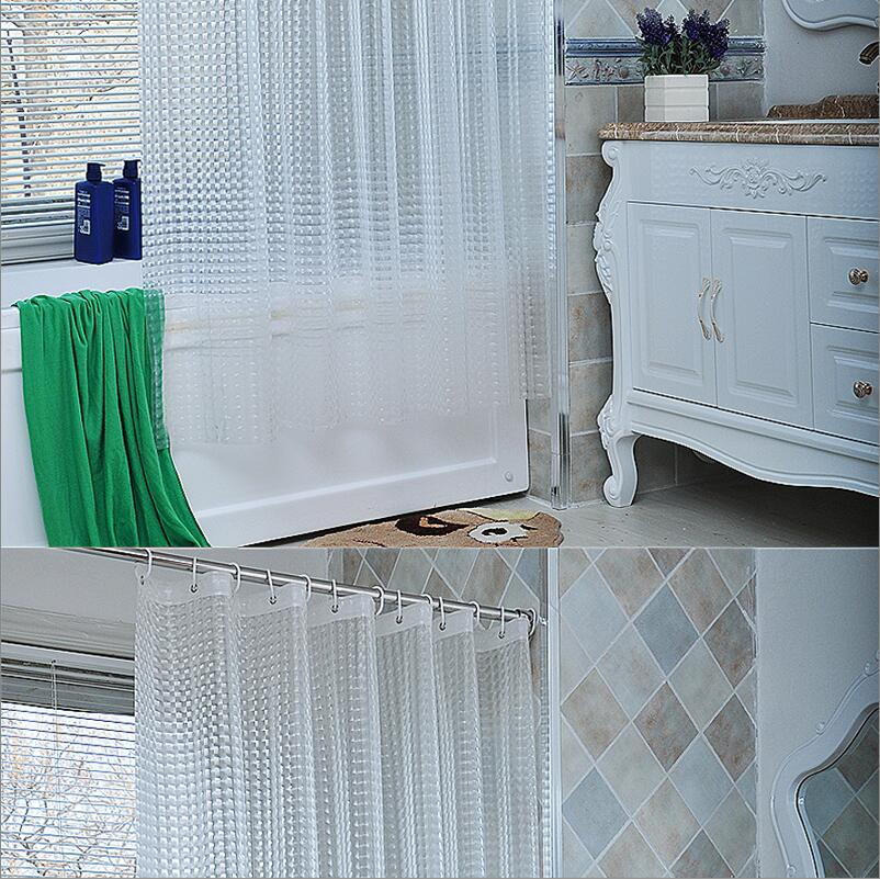 Water Effect Cube Design Resistance Bathing Shower Curtain Fabric Eva Waterproof Home Bathroom Curtains In From Garden On