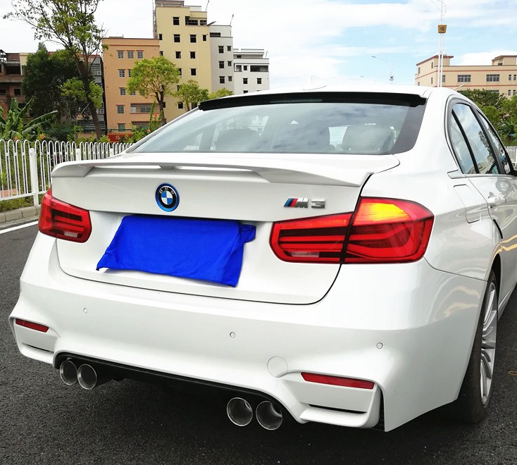 For BMW F30 F35 NEW 3 Series Spoiler High Quality ABS Material Spoiler For BMW ST style 320i 320li 325li 328i Spoiler in Spoilers Wings from Automobiles Motorcycles