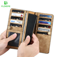 FLOVEME Wallet Case For IPhone 6 7 Plus Case Leather Pouch For Samsung S8 S8 Plus