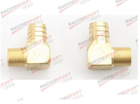 2 Pcs 1 Male 90 Elbow Brass Hose Barbs Barb To 3 4 NPT Pipe Male