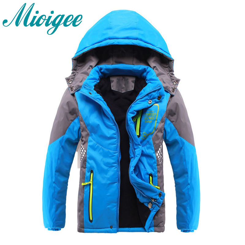 Mioigee 2019 jacket for boy Warm Coat Sport Kids Clothes Double-deck Waterproof Windproof Thicken Boys Jackets Autumn and WinterMioigee 2019 jacket for boy Warm Coat Sport Kids Clothes Double-deck Waterproof Windproof Thicken Boys Jackets Autumn and Winter