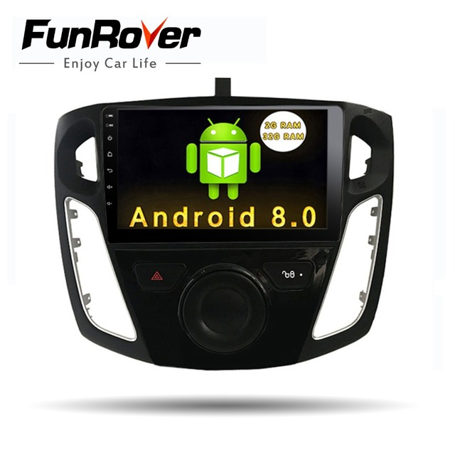Funrover 9 inch android 8.0 car dvd radio player for FFord Focus 3 2012 2013 2014 2015 with gps navigation car multimedia player