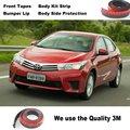 Para TOYOTA Corolla/Car Bumper Lip Deflector de Labios/Spoiler Delantero falda Para Auto Tuning Ver/Kit de Carrocería/Strip