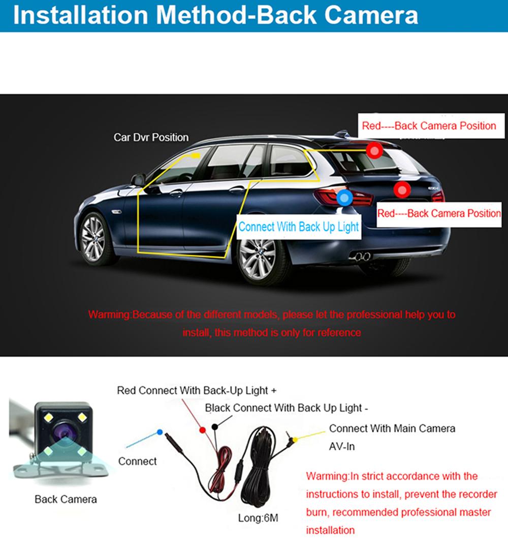 E-ACE Car Dvr Rearview Camera Mirror Auto Dashcam Video Recorder Automobile Full HD1080P Camcorder Dual Camera Lens Registrator 39