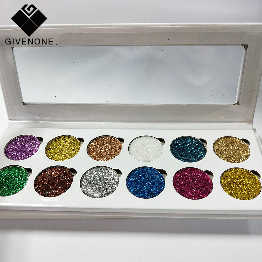 Eye Shadow Popular Brand Givenone Long-lasting Mermaid Dazzling Glitter Powder Eyeshadow Nail Body Art Makeup Palette Easy To Wear Waterproof Reputation First