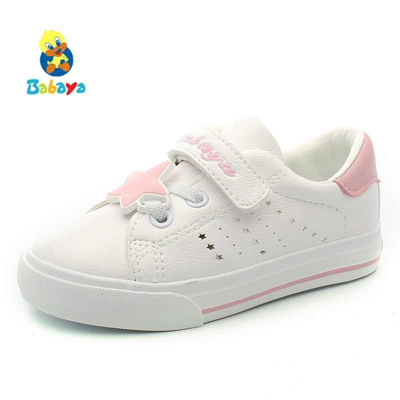 Kids Shoes For Girl Children Sports Shoes Boys Sneakers PU 2018 New Spring Autumn Fashion White Girls Running Shoes