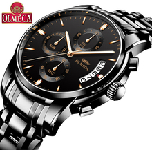 OLMECA relogio masculino Top Brand Watch Men Sport Watch Waterproof Military Quartz Wristwatch Hot Clock saat reloj mujer 2018